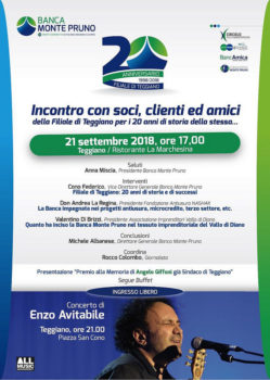 20° Anniversario Filiale Teggiano Banca Monte Pruno