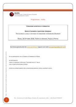 GIOCO D'AZZARDO E QUESTIONE CRIMINALE TRA BUSINESS ILLEGALI E DEVIANZE IN CONDIZIONE DI GAMBLING DISORDER